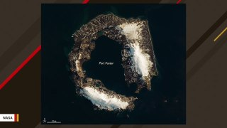 Volcanic Eruption Created This Island Shaped Like A Horseshoe