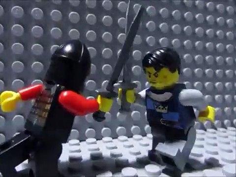 Lego sword duel