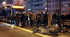 İstanbul'da metrobüsle motosikletin çarpışması sonucu 1 kişi öldü, 1 kişi yaralandı