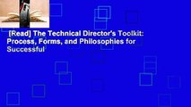 and Philosophies for Successful Technical Direction Process Forms The Technical Directors Toolkit