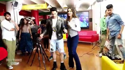 Shraddha Kapoor And Varun Dhawan Cute Moments At Street Dance 3d Promotion At Radio Station