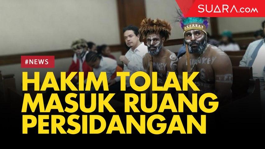 Dua Tapol Pakai Koteka, Hakim dan Jaksa Tolak Masuki Ruang Sidang Kasus Dugaan Makar