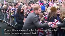 Prince Harry expresses 'great sadness' at royal split