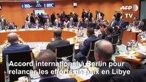 Accord fragile à Berlin pour tenter de ramener la paix en Libye