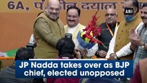 JP Nadda takes over as BJP chief, elected unopposed