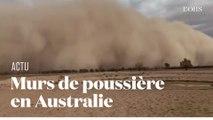 Après les incendies, des murs de poussière se forment en Australie