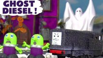 Spooky Thomas and Friends Diesel Prank with Funny Funlings and a Real Ghost in this Halloween Spooky Challenge Family Friendly Full Episode English