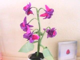 Origami Fuchsia Flower