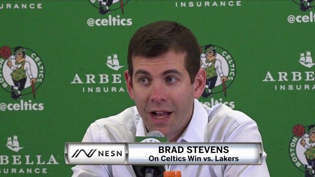 Brad Stevens On Celtics Blowout Win vs. Lakers