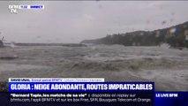 Tempête Gloria: des vagues atteignent 8 mètres de haut dans les Pyrénées-Orientales