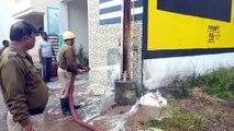 गैस लाइन लीक होने से लगी आग, बड़ा हादसा टला