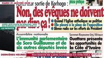 Le Titrologue du 21 janvier 2020 : Traque des opposants, réconciliation des ivoiriens…- Les Hommes de Dieu pourront-ils faire fléchir Ouattara ?