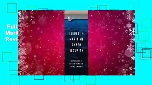 Full version  Issues in Maritime Cyber Security  Review