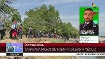 México:migrantes cruzan el río Suchiate pese a ofrecimientos estatales