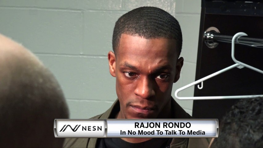 Rajon Rondo Hilariously Has No Time For LeBron James, Celtics Questions