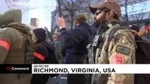 Miles de manifestantes a favor de las armas salen a las calles de Virginia