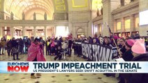 Trump impeachment: US Senate leader eases rules as trial kicks off