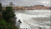 "Wintersturm ""Gloria"" zieht über Südfrankreich"