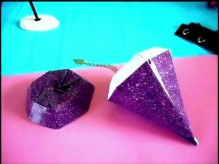 Origami Diamond Box (Make a paper jewelry box)
