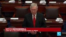 """""""nous voulons la justice"""", selon Mitch McConnell"""