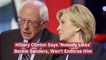 Hillary Clinton Is Not A Fan Of Bernie Sanders