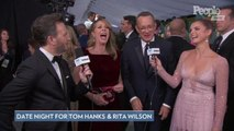 Tom Hanks and Rita Wilson Say Typical Date Night Involves 'Sweatpants and a Good Movie' at SAG Awards