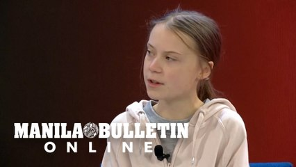 "Greta Thunberg at WEF says ""nothing has been done"" for the climate"