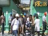 Jovenel Moïse chèf leta ayisyen an vizite santral elektrik Okap la