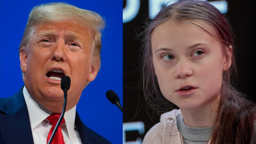 Trump and Greta Thunberg clash over climate issues at World Economic Forum in Davos