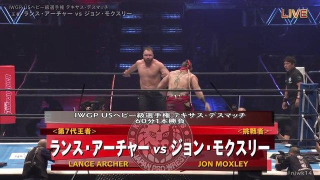 60fps / Lance Archer (C/V2) VS Jon Moxley '20.1.4 [IWGP US Heavyweight Championship ~ Texas Death Match] [WORLD PRO-WRESTLING LIVE 2020 ~ WRESTLE KINGDOM 14 in TOKYO DOME]