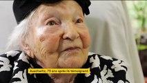Agnès Zini survivante d'Auschwitz libéré il y a 75 ans
