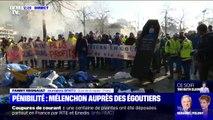 Les égoutiers manifestent devant le ministère de l'Économie et des Finances contre la réforme des retraites