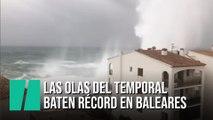 El oleaje provocado por la borrasca 'Gloria' bate récord en Baleares