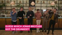 The Jonas Brothers get wasted playing drinking games with Seth Meyers