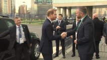 Prince Harry arrives for UK-Africa investment summit