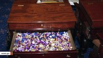 Senate's 'Candy Desk' Goes Viral During Impeachment Trial