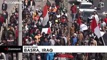 Multitudinario funeral de una activista antigubernamental asesinada en Irak
