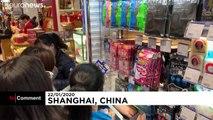 Массовый спрос на маски в Китае