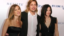 Courteney Cox Seems to Stan Jennifer Aniston and Brad Pitt and We Have Proof