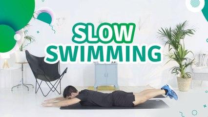 Slow swimming (mat üzerinde yavaş yüzme hareketi) - Sporcuyum