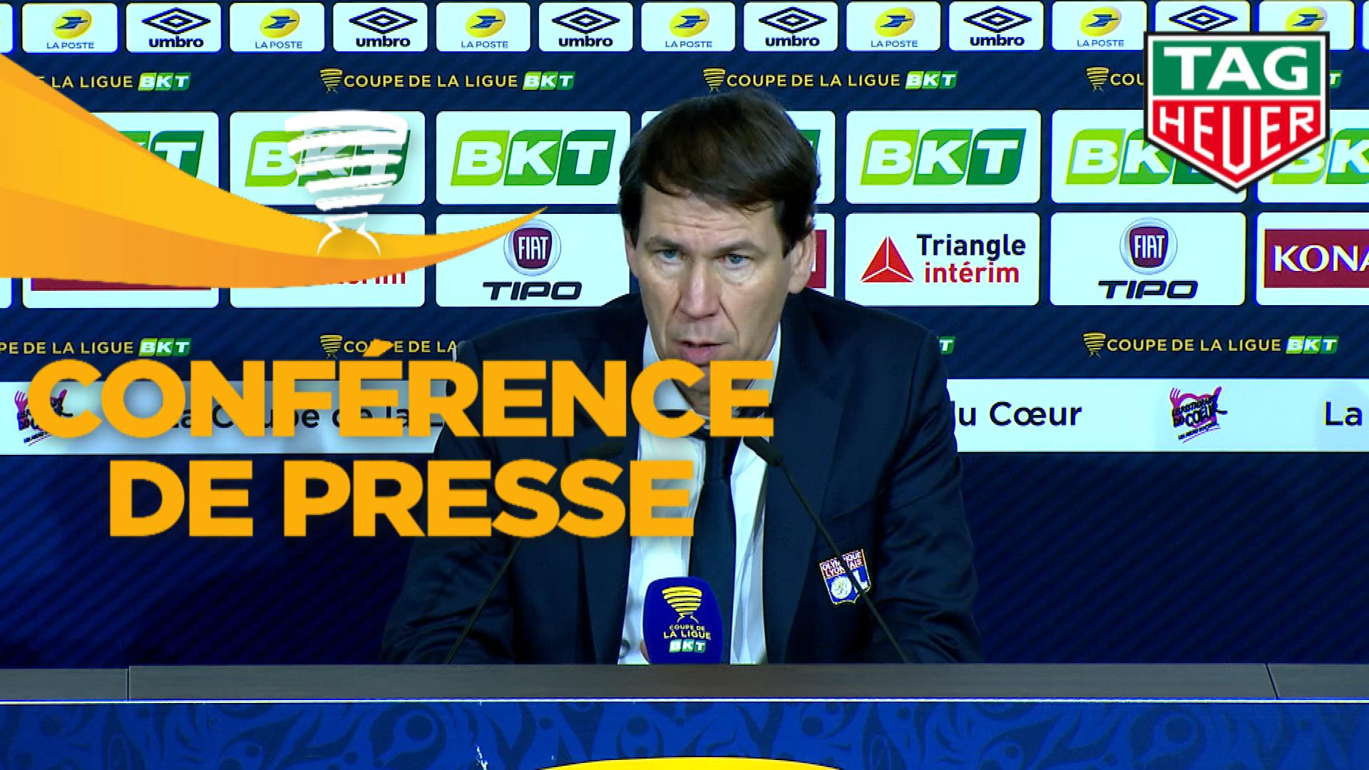 Conférence de presse Olympique Lyonnais - LOSC (2-2 4 tab à 3) : Rudi GARCIA (OL) - Christophe  GALTIER (LOSC) - 2019/2020
