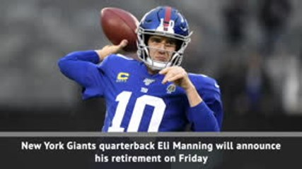 Two-time Superbowl MVP Eli Manning to retire