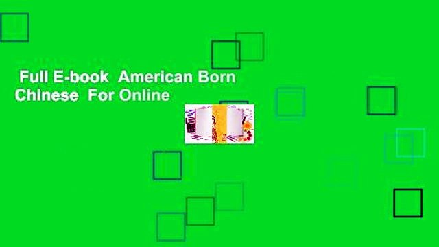 Full E-book  American Born Chinese  For Online