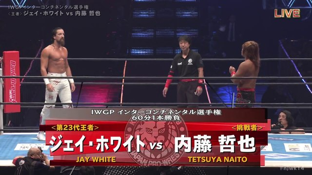 60fps / Jay White (C/V2) VS Tetsuya Naito '20.1.4 [IWGP Intercontinental Championship Match] [WORLD PRO-WRESTLING LIVE 2020 ~ WRESTLE KINGDOM 14 in TOKYO DOME]
