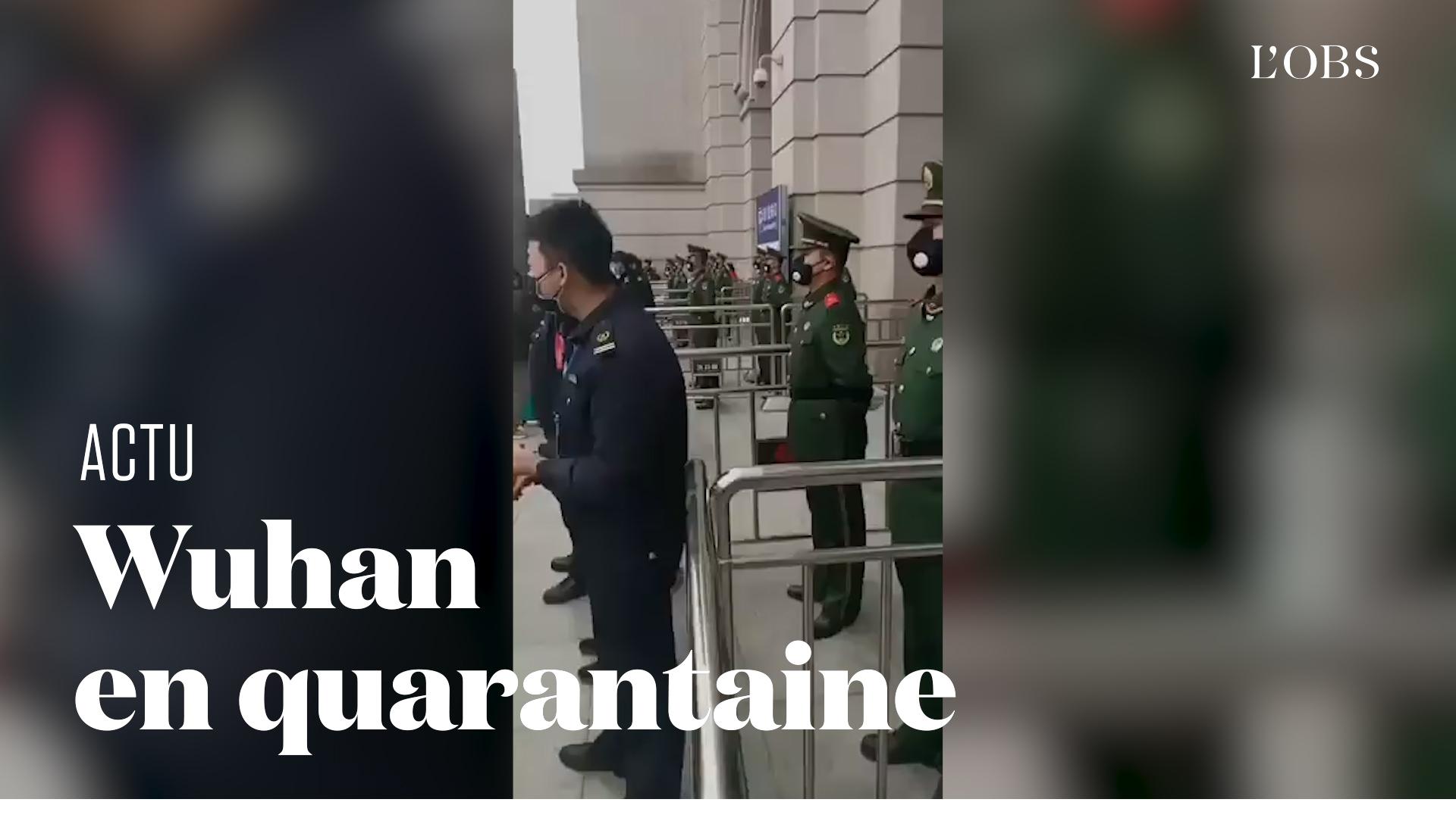 En Chine, les images de Wuhan, foyer du nouveau coronavirus, en quarantaine