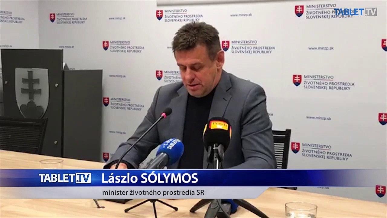 ZÁZNAM: Vyhlásenie ministra životného prostredia. L. Sólymosa