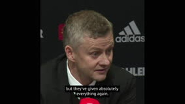 Man United players gave absolutely everything - Solskjaer