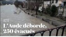 Après le passage de la tempête Gloria, l'Aude déborde