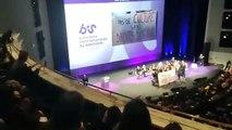 Le discours du Ministre de la Culture Franck Riester à Nantes perturbé par des intermittents du spectacle - VIDEO