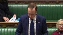 Matt Hancock gives a statement on coronavirus in the UK